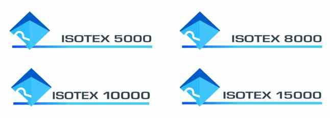 Regatta IsoTex 5000, 8000, 10000, 15000 logos from Warwickshireclothing.com