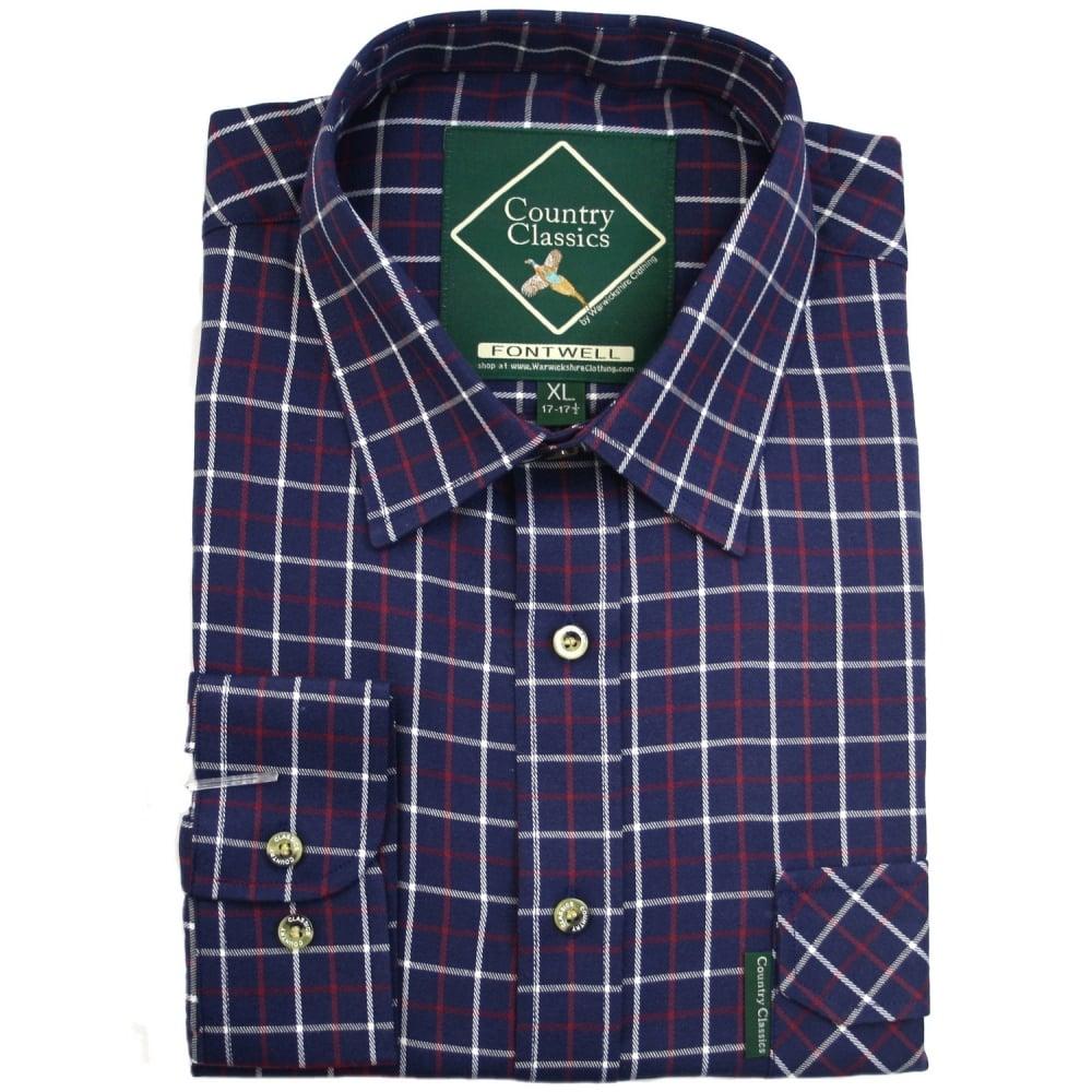 7d3887fb Country Classics Mens Long Sleeve Check Shirt | Warwickshire Clothing