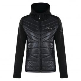 Women s Merger Full Zip Hybrid Fleece Sweater Black b1a980b05