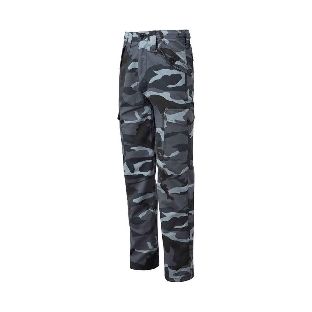 sneakers for cheap wide range uk availability Hazy Blue Mens Combat Camouflage Style Trousers Navy Camo