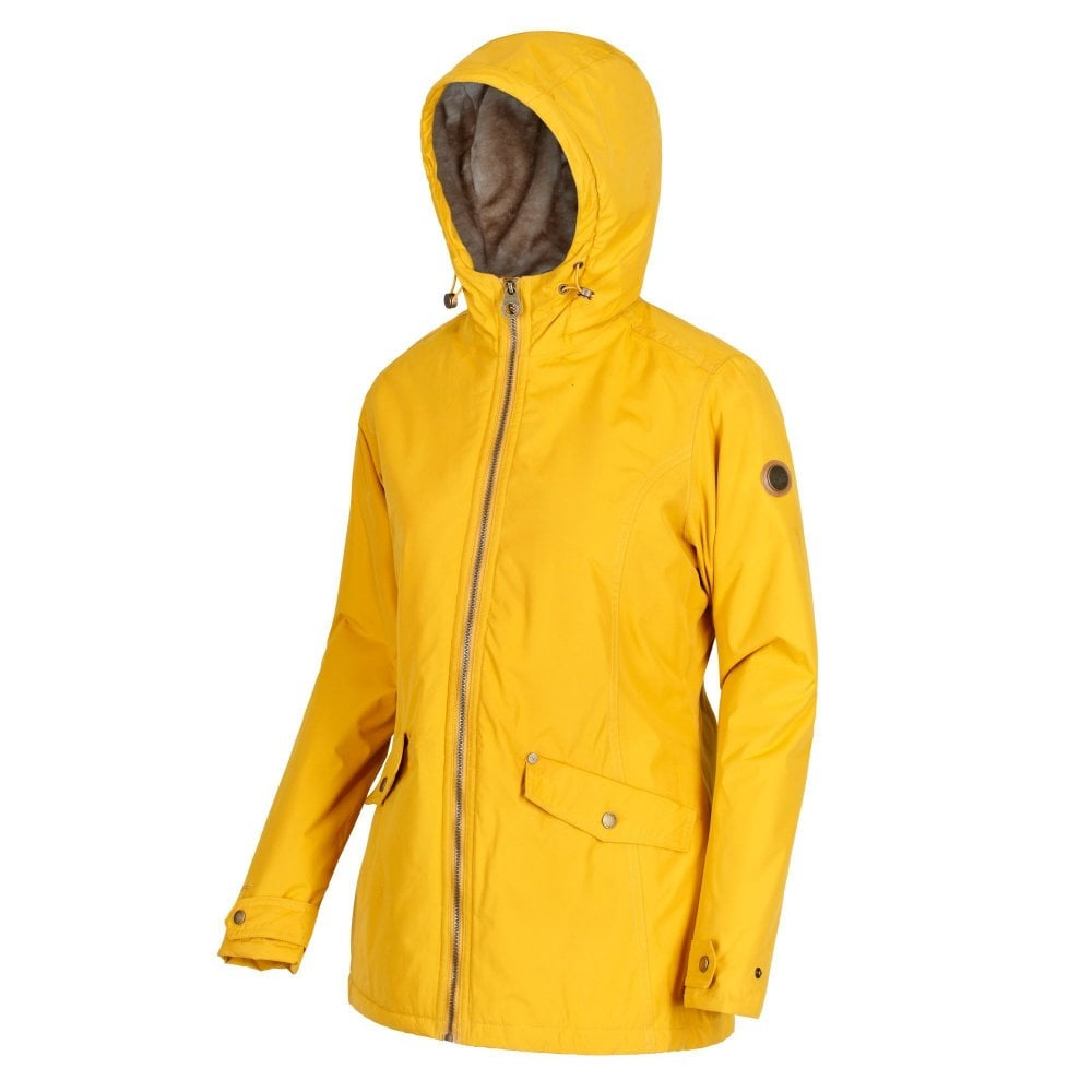 most reliable dirt cheap amazing quality Regatta Bergonia Womens Waterproof Jacket Mustard Seed
