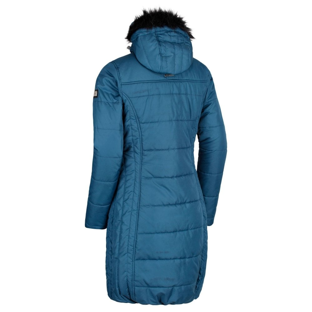 7b0ff848fb360 Fermina II Long Length Quilted Jacket Majolica Blue