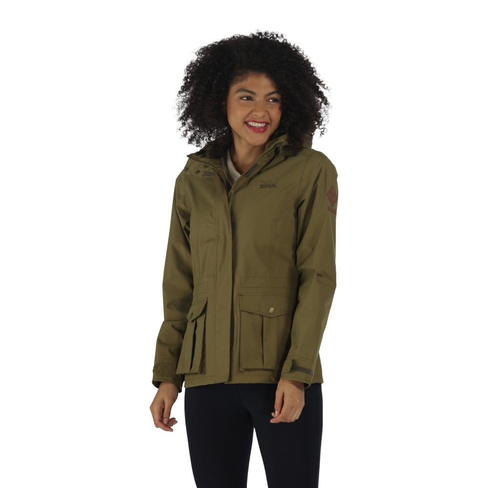 limited guantity hot-selling professional buy good Lanelle Womens Lightweight Waterproof Jacket Utility Green