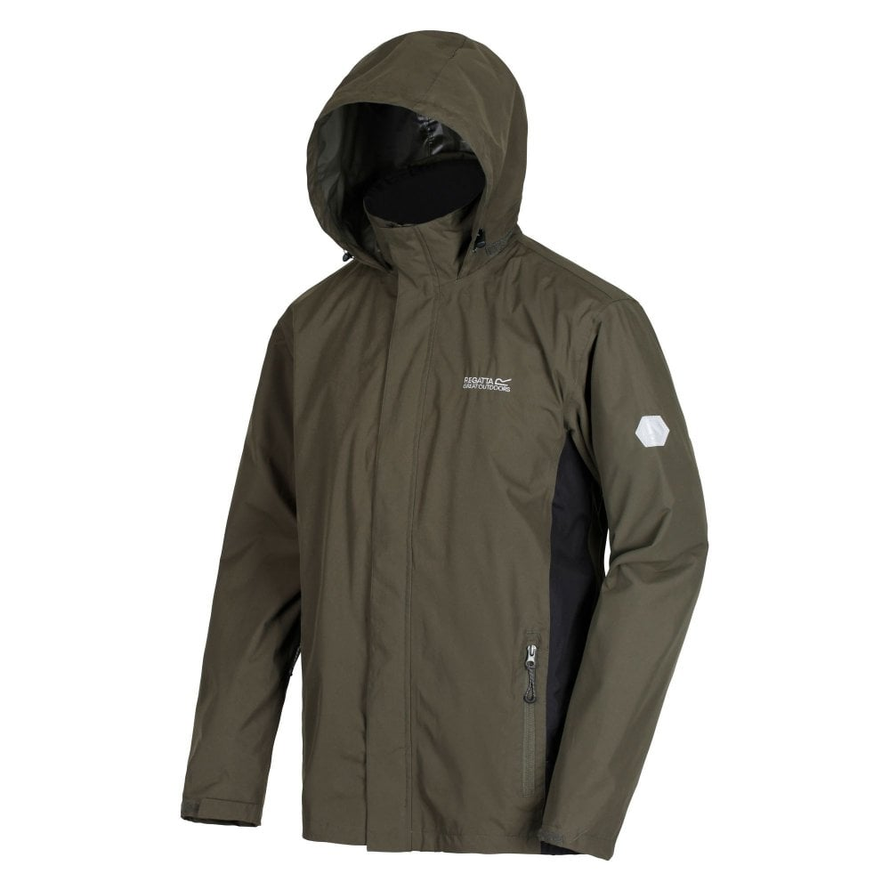 complete range of articles world-wide selection of bright n colour Matt Mens Waterproof Jacket Dark Khaki