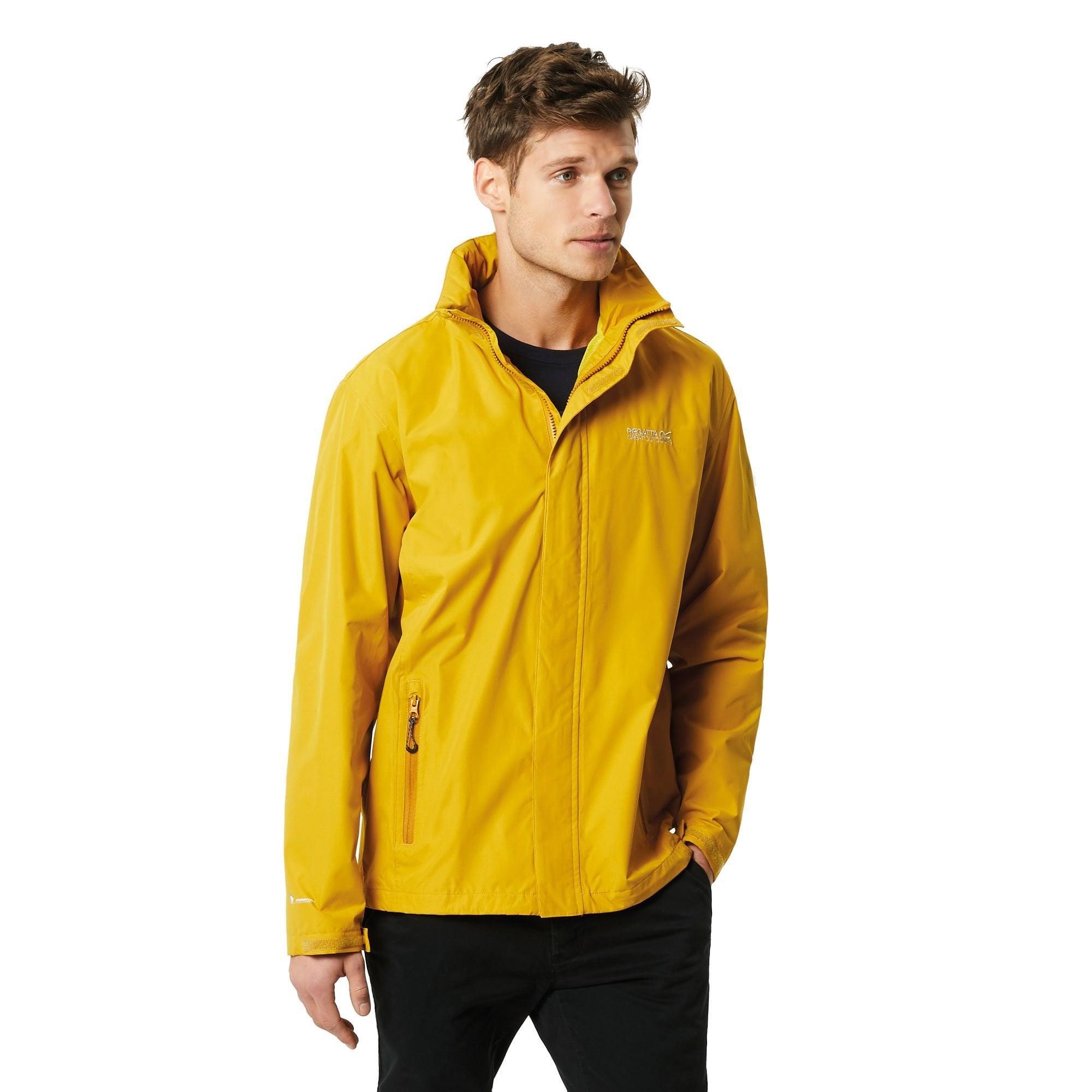 Regatta Mens Matt Windproof Waterproof Hydrafort Full Zip Rain Jacket
