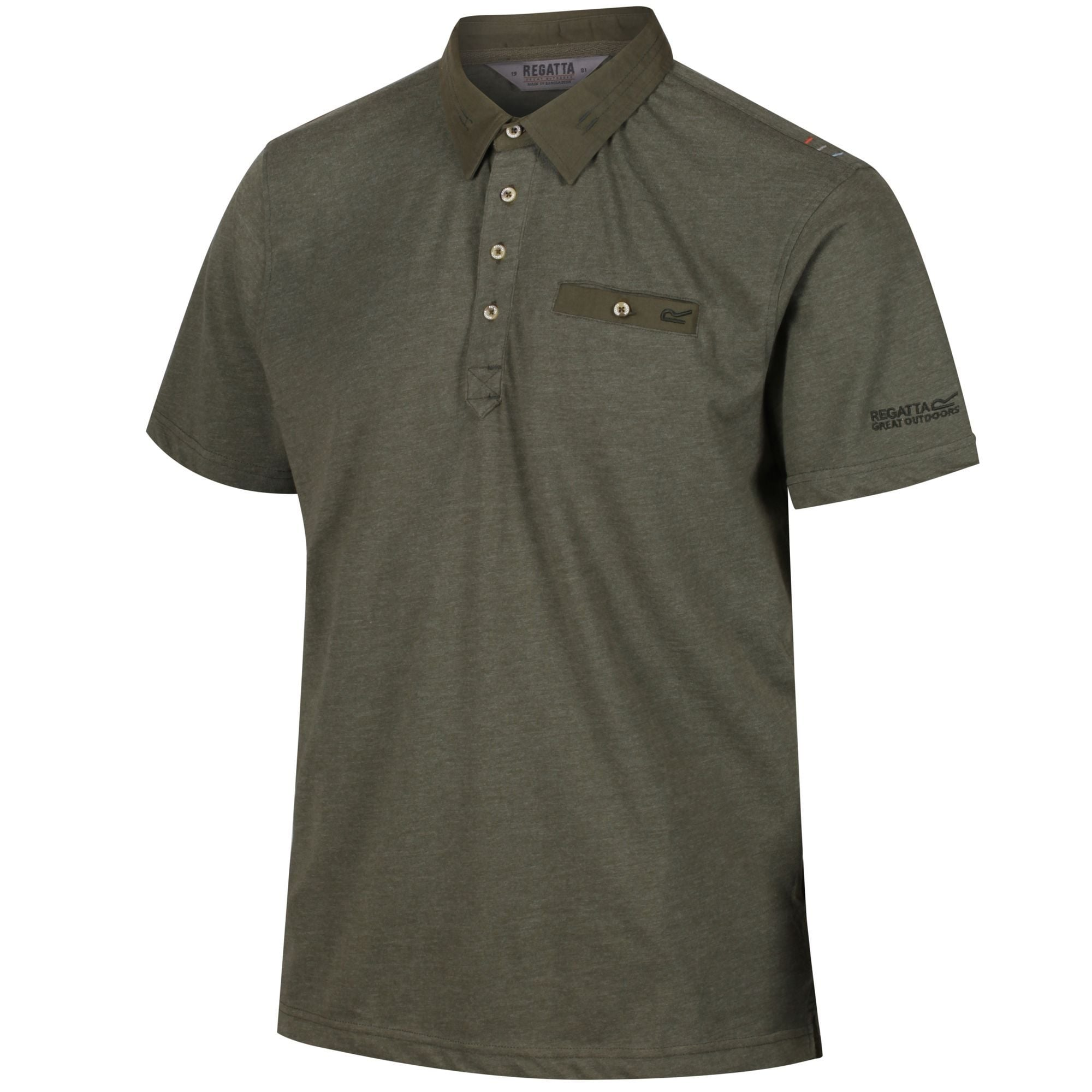 Regatta Coolweave Mens Polo Shirt Green