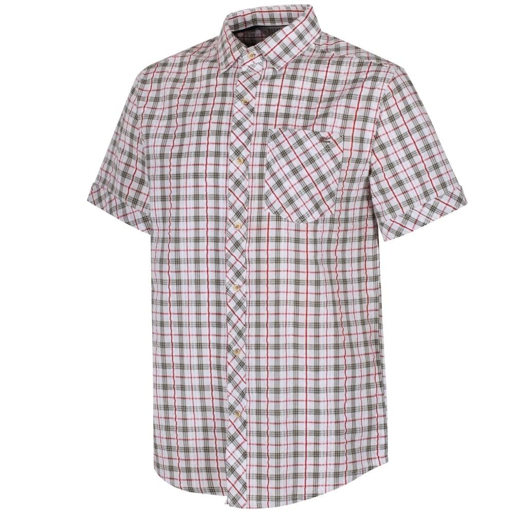 Mens Deakin II Shirt White/Ivy Green