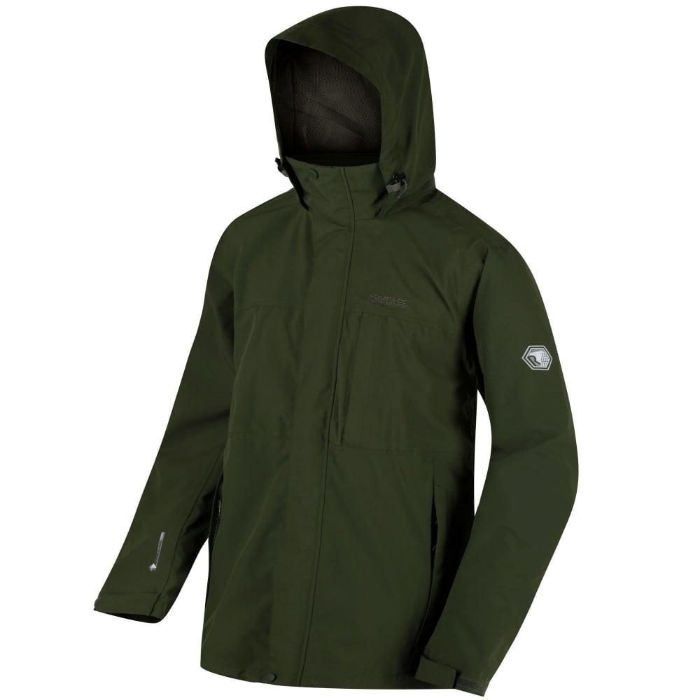 Northfield Stretch IV Mens Waterproof Jacket Racing Green