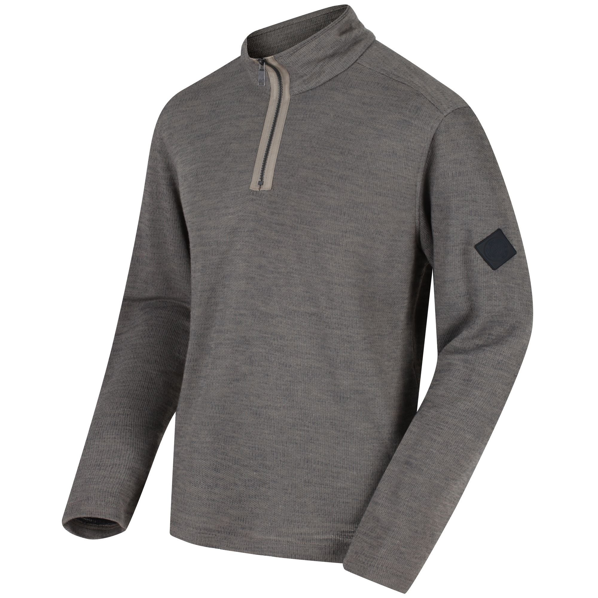 Regatta Mens Parnel Lightweight Coolweave Hybrid Fabric 1//4 Zip Fleece