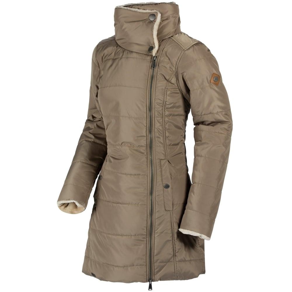fc04fe3e7f2ed Penthea Ladies Long Length Puffer Jacket Sand