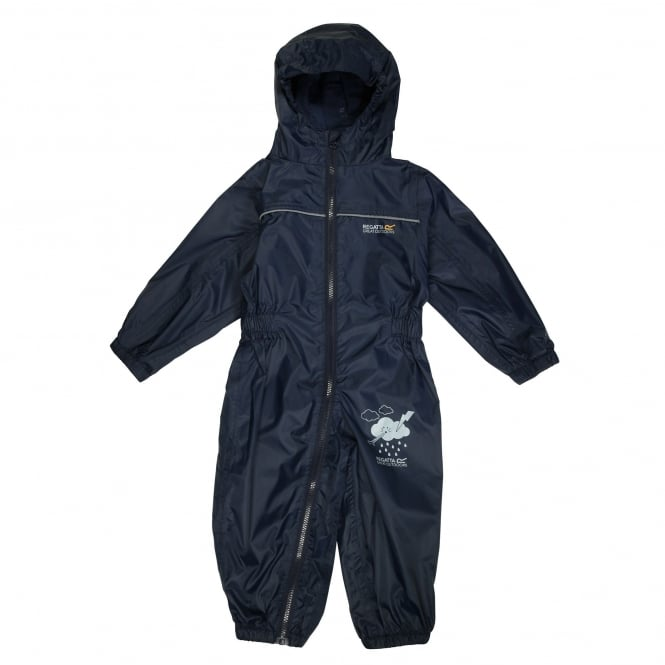 Regatta Puddle Childrens All In One Waterproof Suit Navy