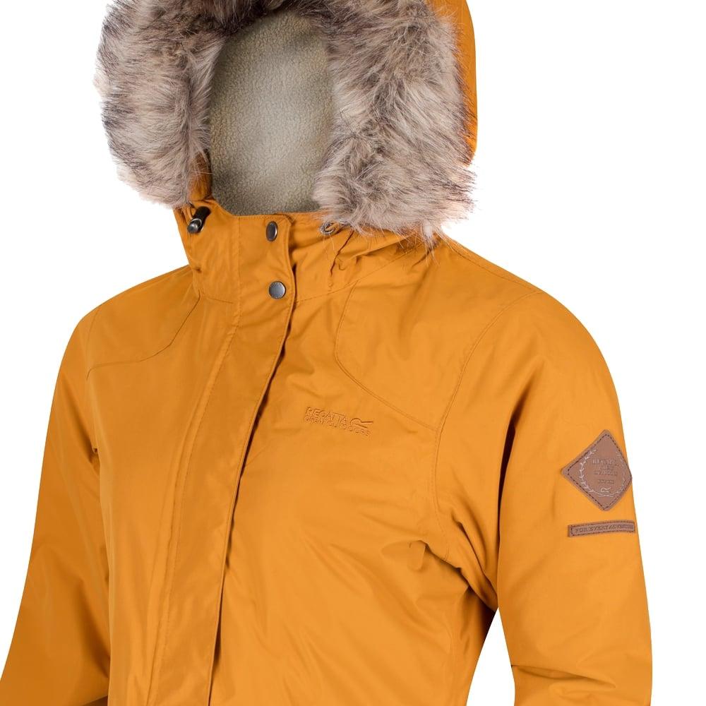Schima parka jacket yellow