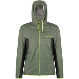 Tarnis Mens Hooded Fleece Top Racing Green