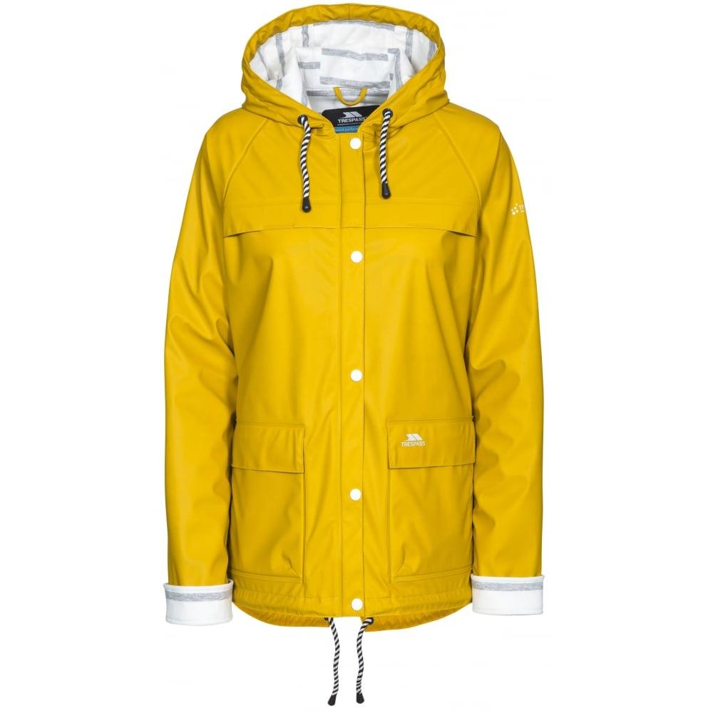 517b53171 Trespass Muddle Ladies Waterproof Jacket Gold