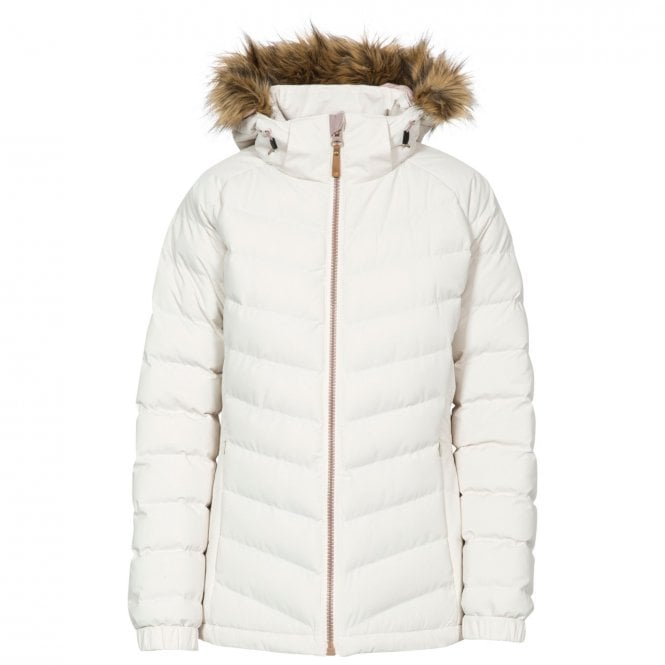 Trespass Nadina Padded Insulated Parka Jacket Light Vanilla
