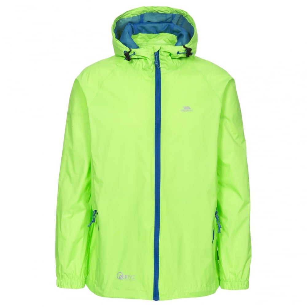 Compact Packaway Waterproof Jacket Kids Unisex Age 7-8 Green 7//8 Green Gecko Trespass Qikpac Jacket