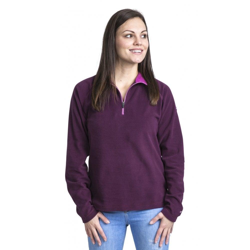 c1284b2dd Trespass Skylar Womens Half Zip Fleece Top Potent Purple